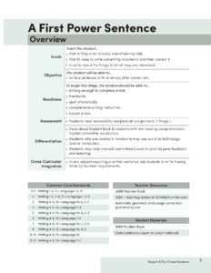 Teacher Book Stage 1 Overview