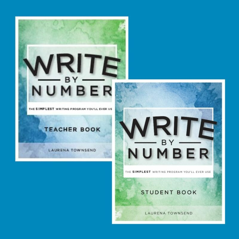 Write by Number sample book covers (Teacher and Student Books)