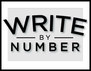 Write By Number Black and White Logo