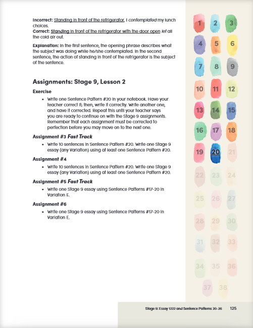 Teacher Book right-hand page sample